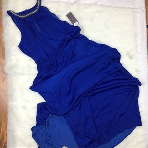 NWT Jennifer Lopez royal blue maxi formal sz L
